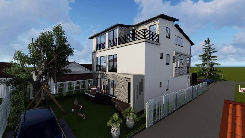 Shitet shtepia 3 katshe me 2.5 Ari truall në Çagllavicë, lagjja NIC, me sipërfaqe 263m2