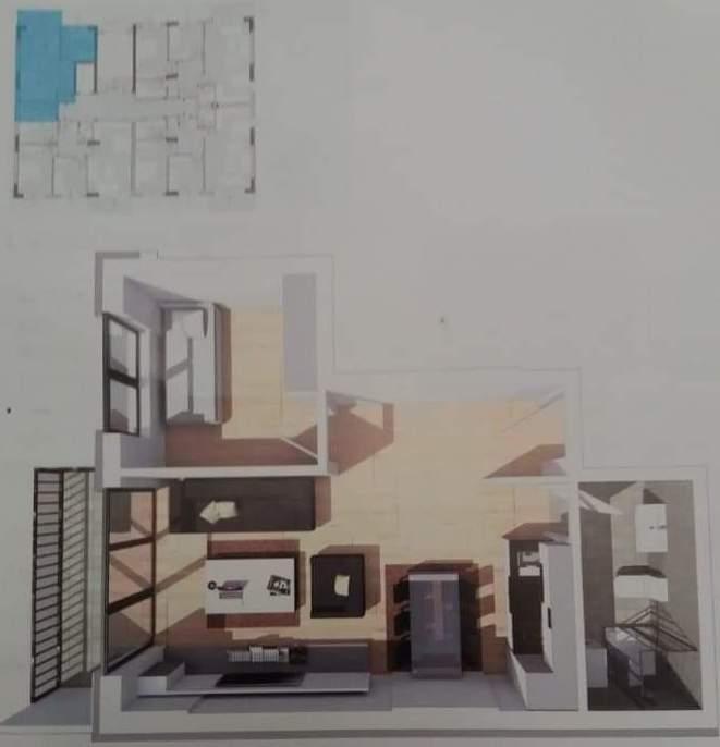 Shitet banesa 2 dhomëshe 48m2 kati 4 në lagjen Mati 1