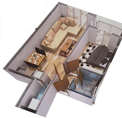 Shitet banesa 2 dhomëshe 50 m2 kati 7 në Fushë Kosovë