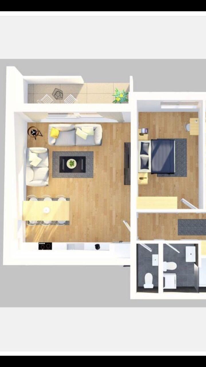 Shitet banesa 2 dhomëshe 60m2 kati 6 në lagjen e Spitalit